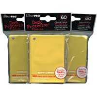 Ultra Pro Card Supplies YuGiOh Sized Deck Protector Sleeves Yellow 60 Count x3