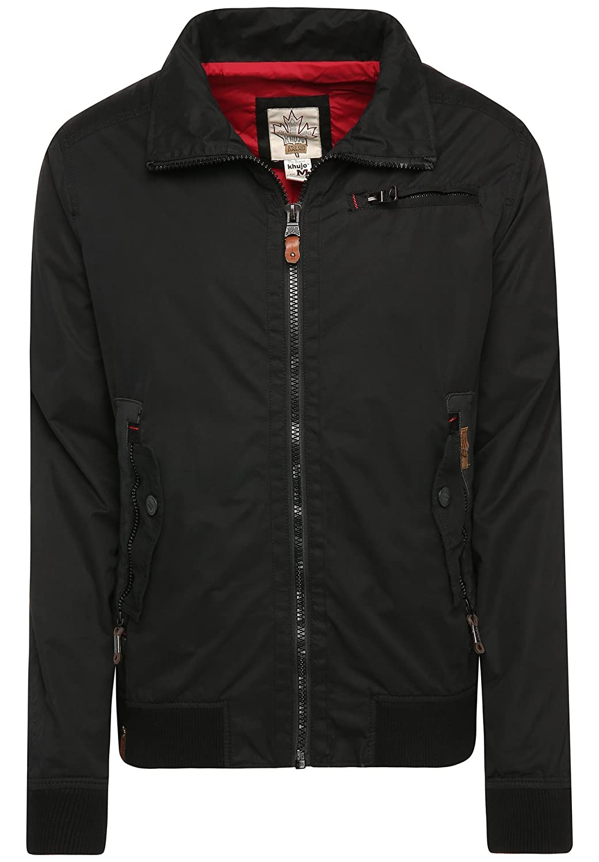 khujo Men's Plain Long Sleeve Jacket black black