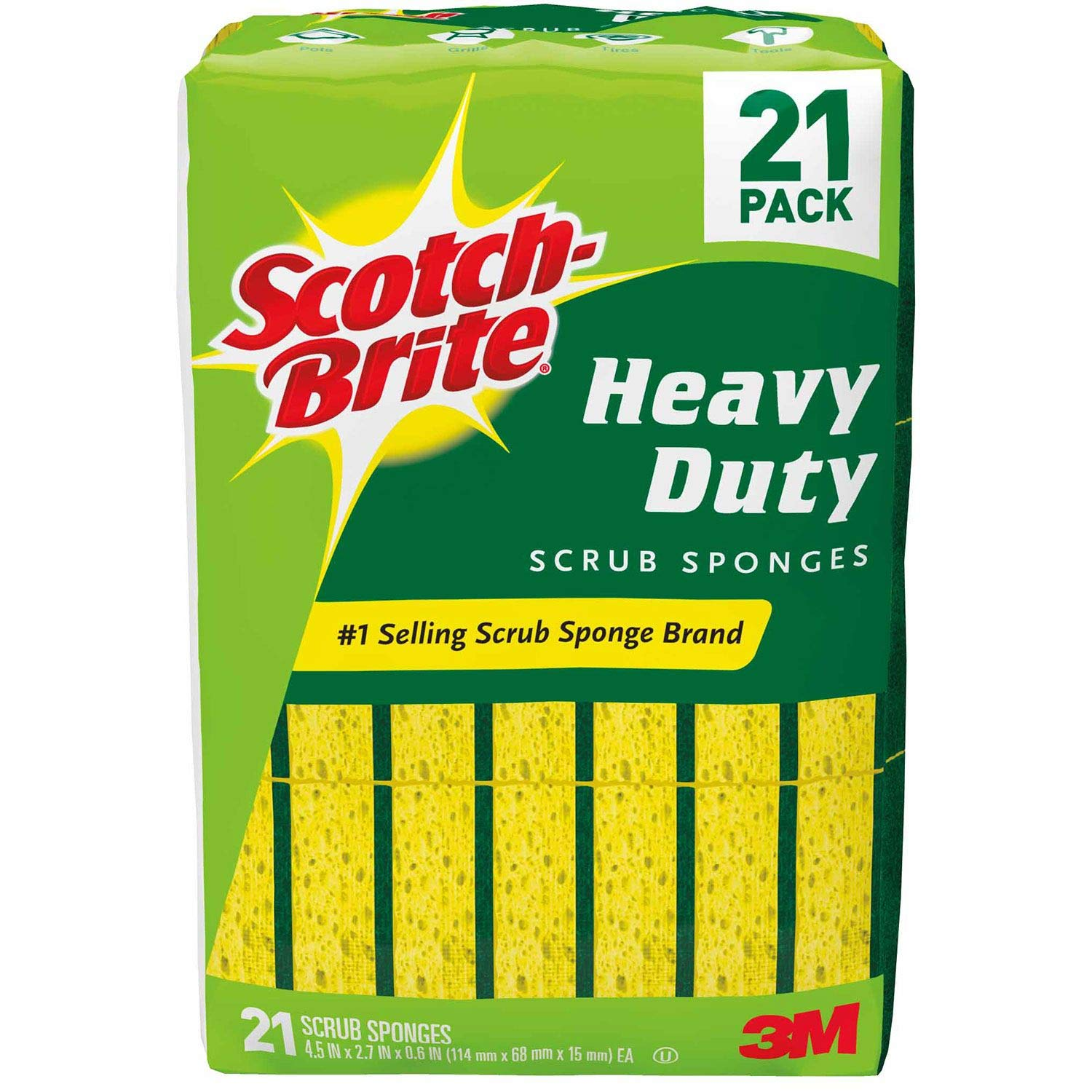 Scotch-Brite Heavy Duty Scrub Sponge (1 Pack (42 Count))