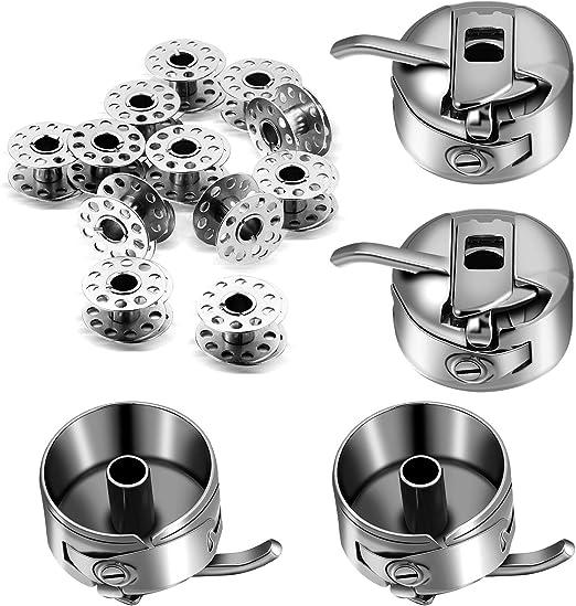 40 Piezas Bobinas de Máquinas de Coser de Metal y 4 Piezas Cajas ...