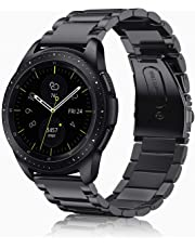 Fintie Band for Galaxy Watch 42mm / Gear Sport, 20mm Stainless Steel Metal Replacement Bracelet Strap Wrist Bands for Samsung Galaxy Watch 42mm / Gear Sport/Gear S2 Classic Smartwatch, Black (Black)