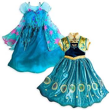 NEW Disney Store Frozen Fever Anna /& Elsa 2-in-1 Costume Set 5//6 7//8