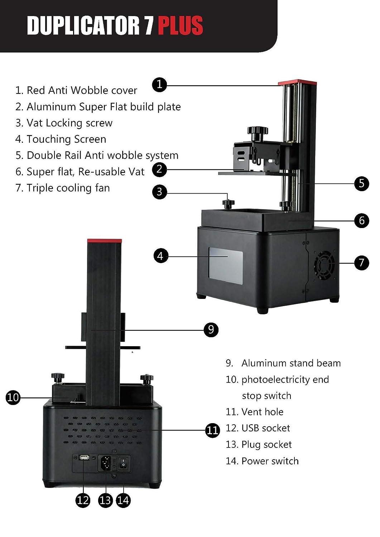 D7 PLUS, impresora de resina Dental impresora 3D Duplicator 7 Plus ...