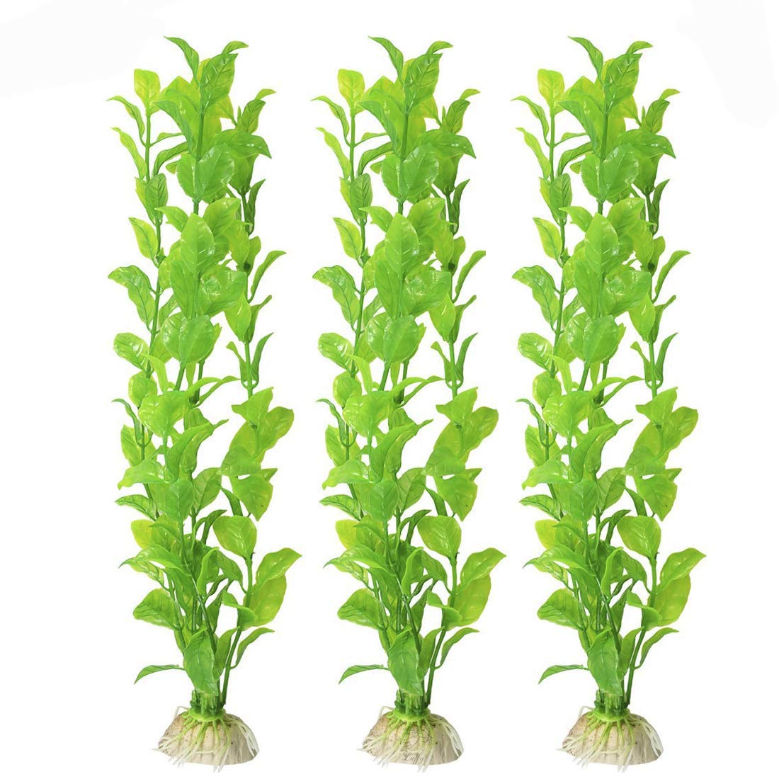 MEISO Beautiful Plastic Aquarium Plant Set: Life-Like & Attractive for Your Tank: Non Toxic & Safe for All Fish & Pets : Easy to Clean : Zero Maintenance : No CO2 Needed