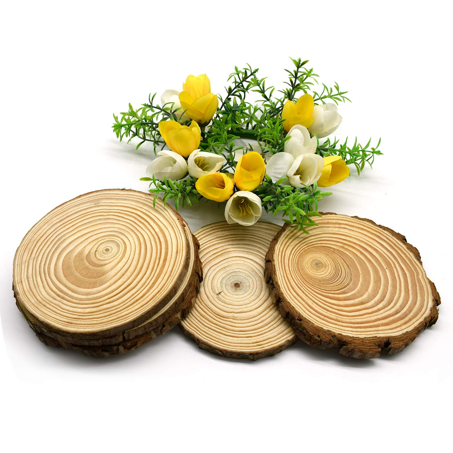 Christmas Cup Mat,Pine Country Round,Extra Large for Woodburning,Home D/écor and Rustic Weddings
