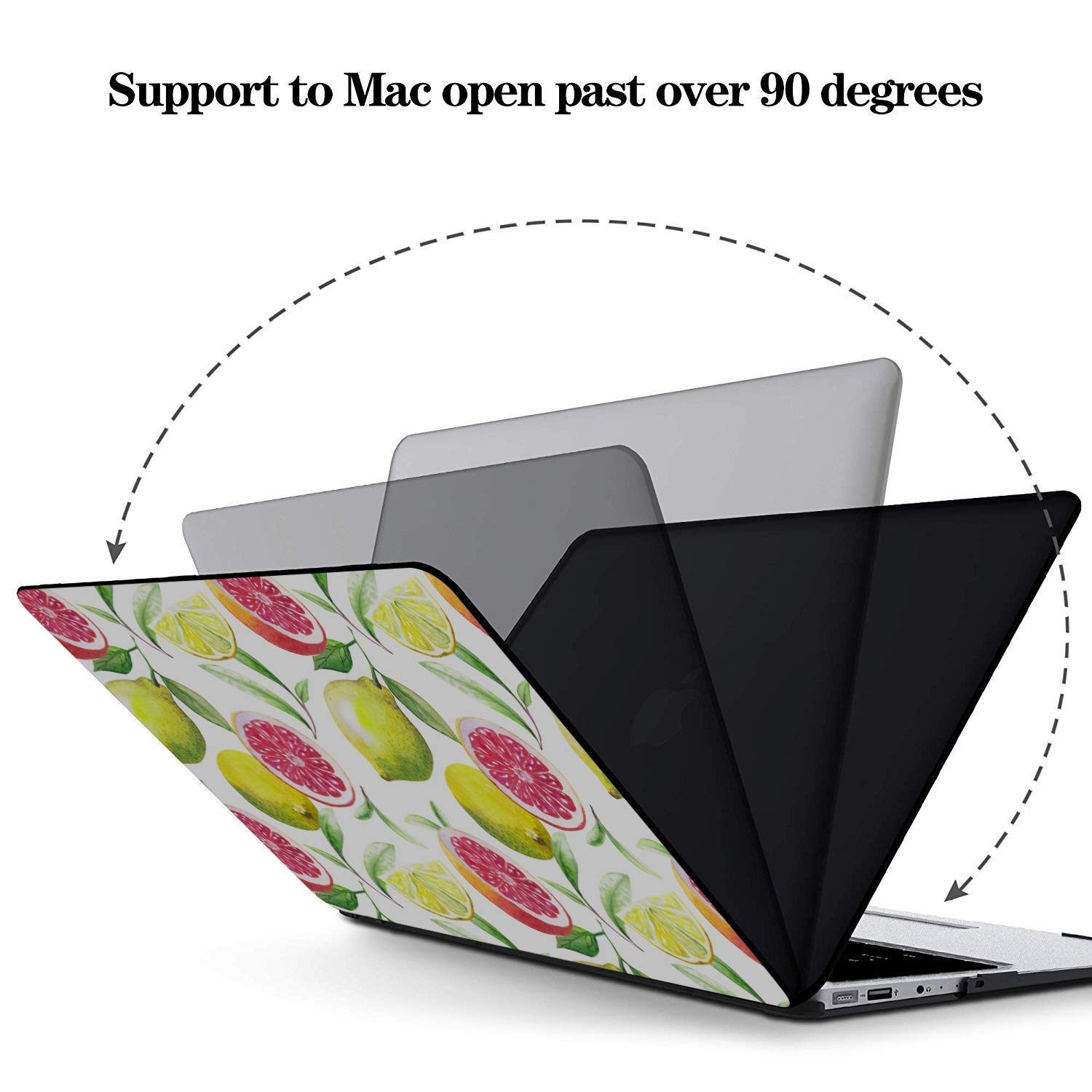 MacBook Air Laptop Case Summer Fruit Grapefruit Green Leaf Plastic Hard Shell Compatible Mac Air 11 Pro 13 15 MacBook 2018 Case Protection for MacBook 2016-2019 Version
