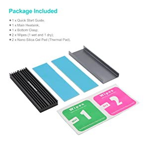 Advancing Gene M.2 NVMe Heatsink with 2pcs Nano Thermal Pads (Without Fan) (Color: For Desktop PC, Without Fan, Tamaño: Fit for M.2 2280 SSD)
