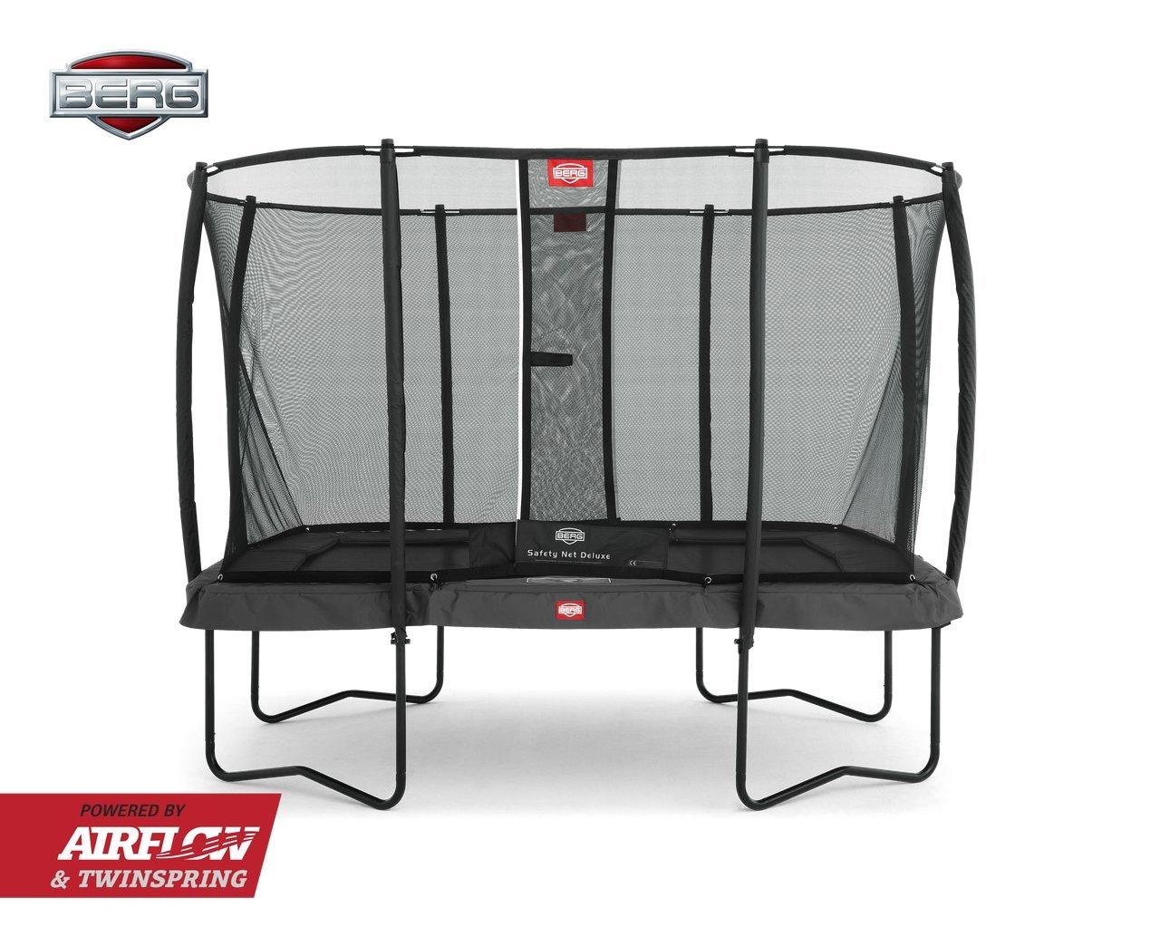 Berg® Trampolin EazyFit mit Sicherheitsnetz Deluxe, Randbezug Grau