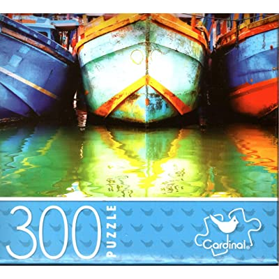 Fishing Boats - 300 Piece Jigsaw Puzzle: Toys & Games