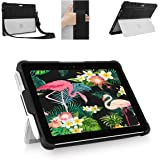Youtec for Microsoft Surface Pro 7/ Pro 6/ Pro 5/ Pro 4 Case, Shockproof Rugged Folio Protective Cover with Pen Holder+Hand Strap+Shoulder Strap Compatible Type Cover Keyboard+Original Kickstand
