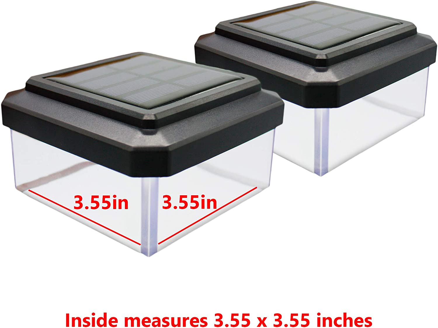 Davinci 4X4 Solar post Lights With Clear Lens 2-Pack