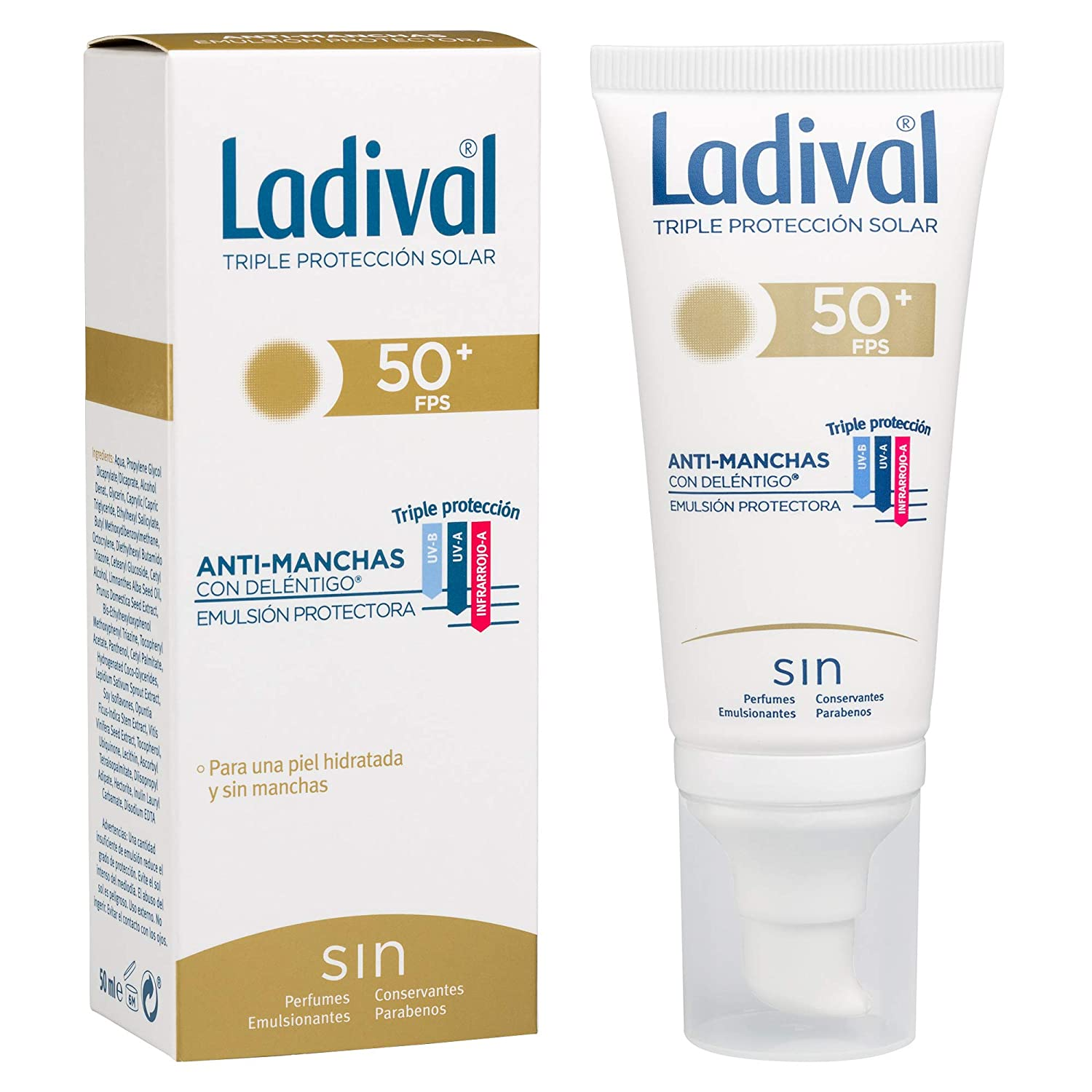 Ladival Protector Solar Facial Anti Manchas - FPS 50+, 50 ml ...