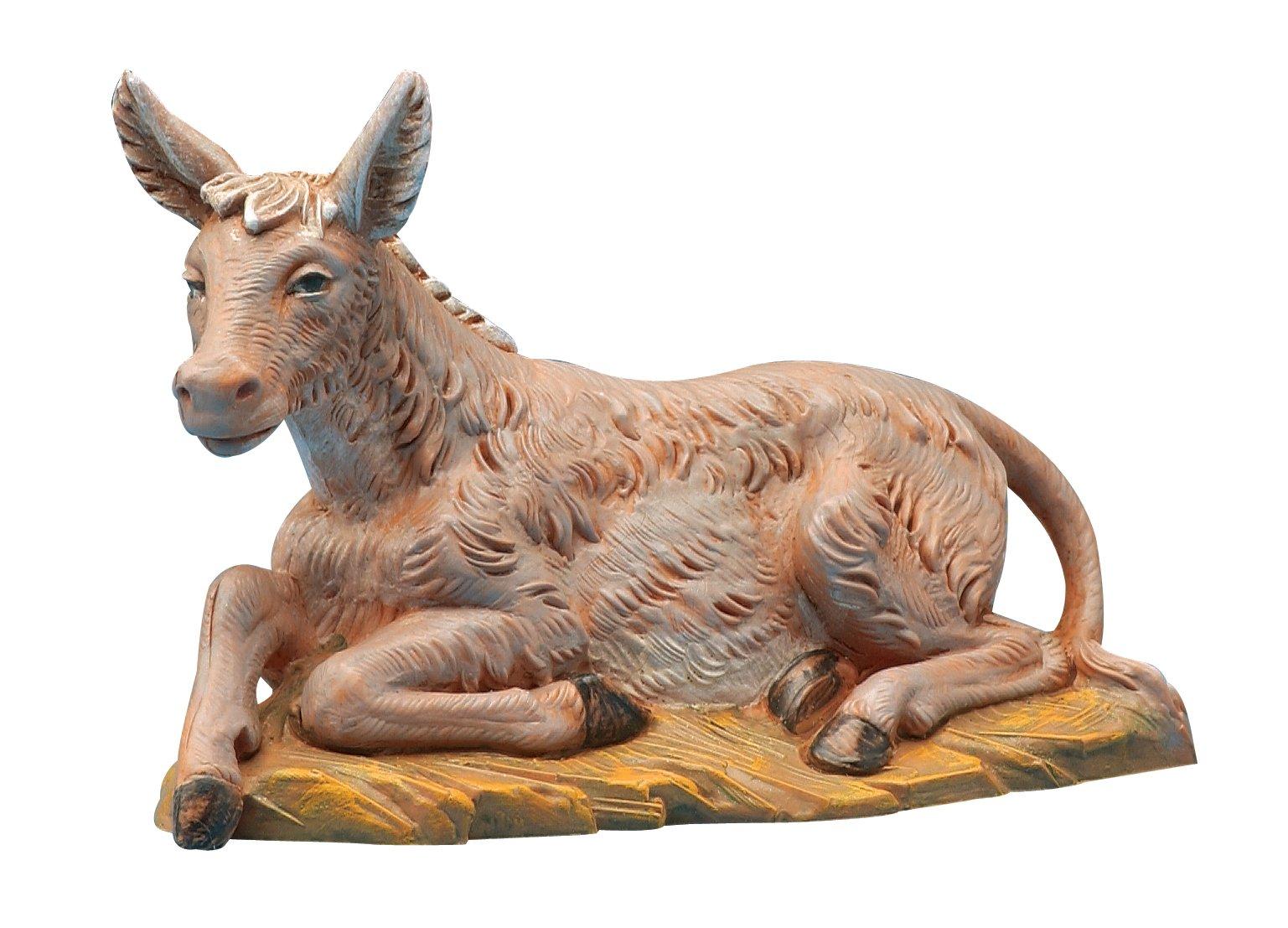 Fontanini by Roman Seated Donkey Nativity Figurine, 5-Inch
