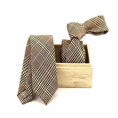 LVmm 6cm de algodon de Corea casual estrecha corbata, 010, 6cm ...