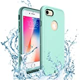 iPhone 7 Case, iPhone 8 Waterproof Case, IP68 Certified Waterproof Case,ZVEproof Underwater Dustproof Snowproof Shockproof Protective Cover with Touch ID for iPhone 8/iPhone 7 -4.7 inch (GREEN)