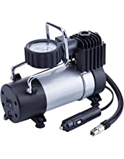 TIREWELL 12V Tire Inflator - Direct Drive Metal Pump 100PSI, Portable Air Compressor with Battery Clamp