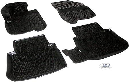 J/&J AUTOMOTIVE Tapis DE Sol en Caoutchouc 3D Exclusive Compatible avec BMW 3 Serie E90 E91 2005-pr/és 4pcs