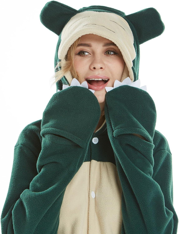 Animale Cosplay Costumi Onesies Pigiama Halloween Festa Snorlax Coniglio Unisex-Adulti Un Pezzo Biancheria da Notte Kigurumi