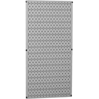 "Wall Control 30-P-3216 G 32"" x 16"" Gray Metal Pegboard Tool Board Panel"