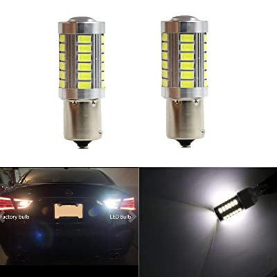 1156 P21W BA15S 87 93 97 97A Reverse Bulbs Map Light Extremely Bright with 33pcs 5630SMD LED Backup Brake Bulb Lights White Xenon Reverse Light (Set of 2): Automotive