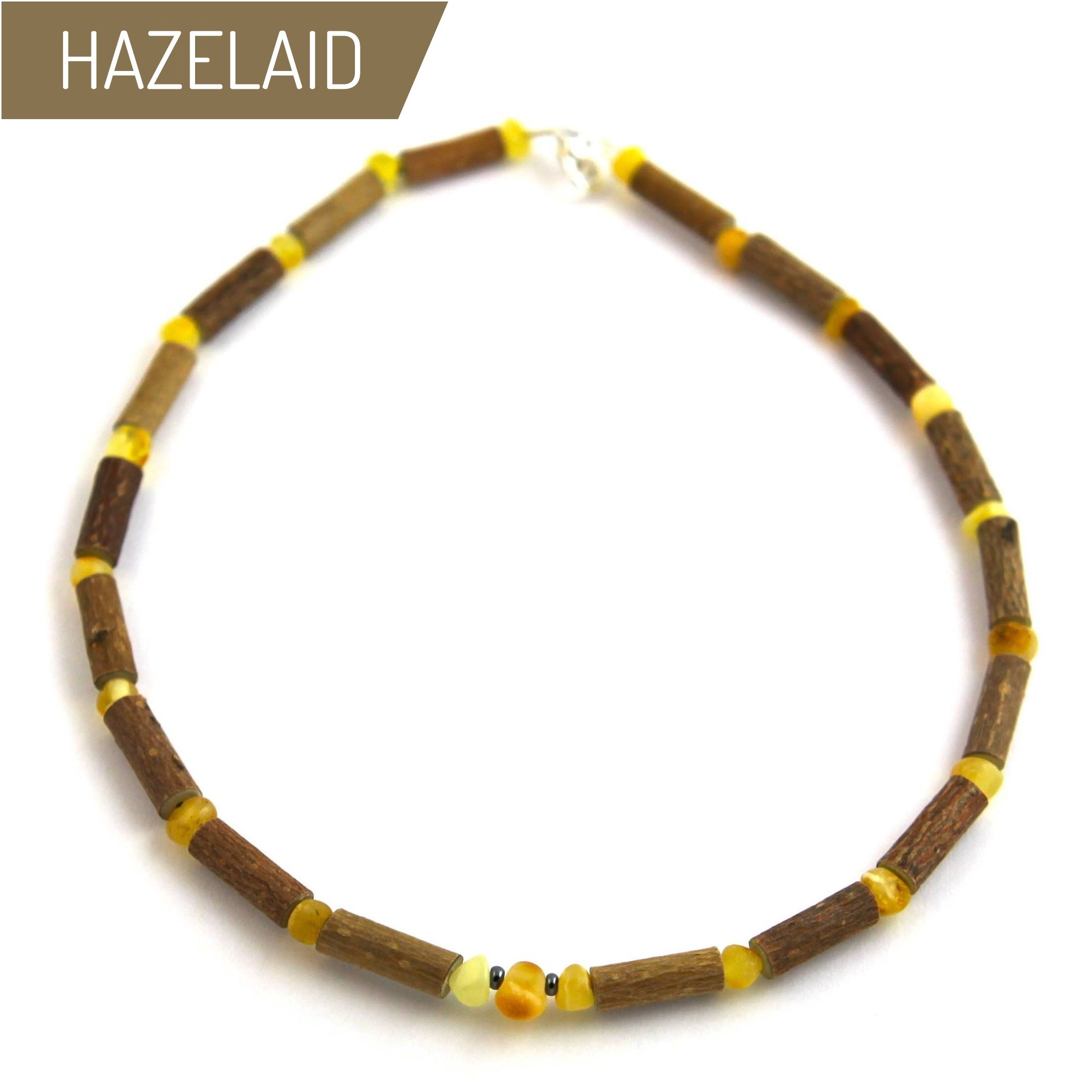 HAZELAID (TM Child Hazelwood-Amber Necklace - 11'' Milk & Butter by HAZELAID