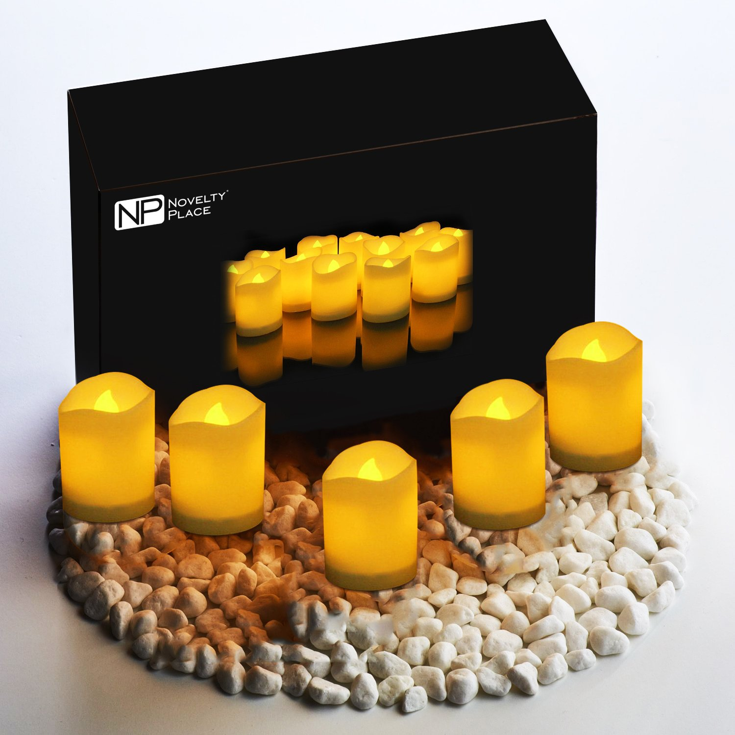 Novelty Place [Longest Lasting Battery Operated Flickering Flameless LED Votive Candles (Pack of 96) by Novelty Place (Image #6)