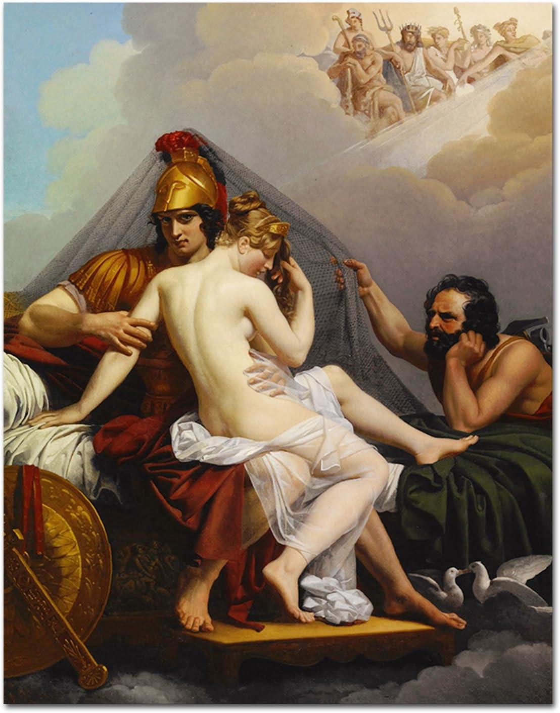 Silaike Famous-Print peinture Ares et Aphrodite capturé Par Hephaestus Décoration murale pour salon Decor No 24 x 32 cm: Amazon.fr: Cuisine & Maison