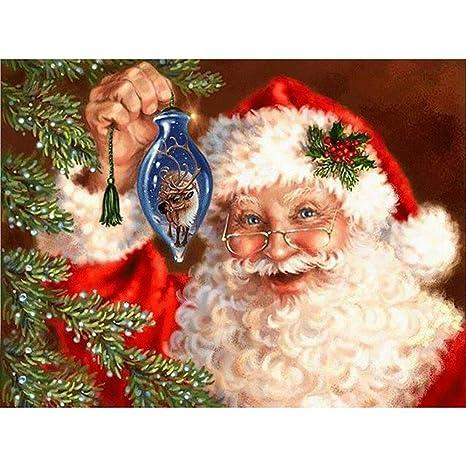 TONVER 5D Kit de pintura de diamantes, mosaico diamante dibujo Navidad paisaje artes manualidades bordado