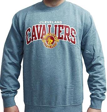 huge discount e4271 1fef6 Amazon.com: Mitchell & Ness NBA Cleveland Cavaliers Crewneck ...