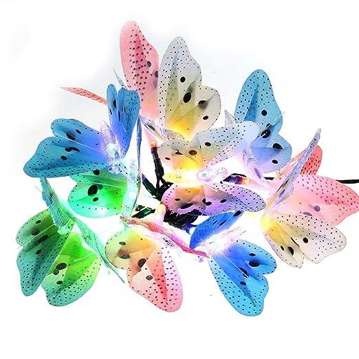 3 opinioni per Qedertek Luci Natalizie per Albero di Natale 3.8M 12LED Formata di Farfalla Luci