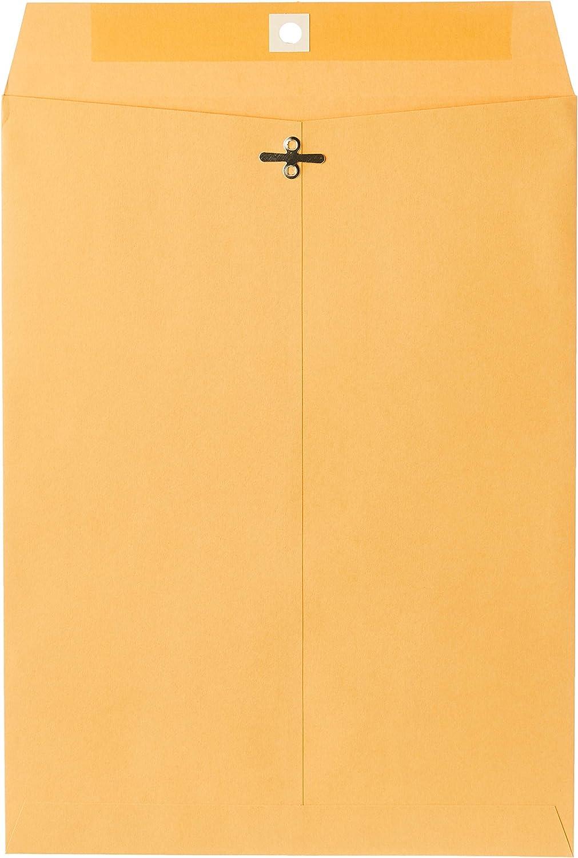 "Mead Envelope, Clasp, 9"" x 12"", Brown Kraft, 100/Box (CO790)"