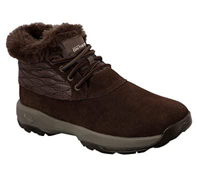 Skechers GOwalk Move Chugga Boot Women's Ankle Boots Chocolate