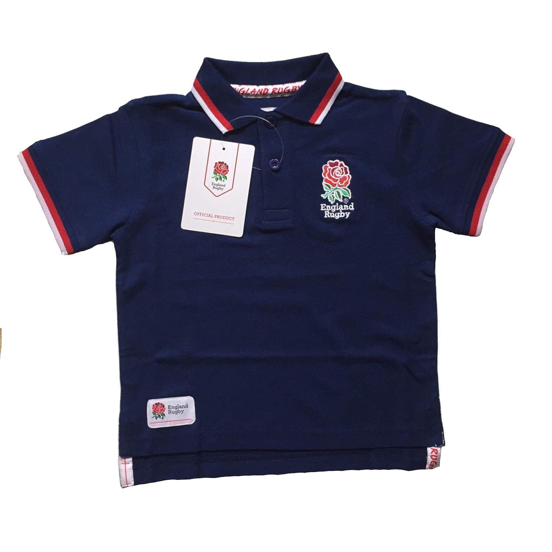 England RFU Rugby Kids Pique Polo Shirt | Navy | 3-4 Years
