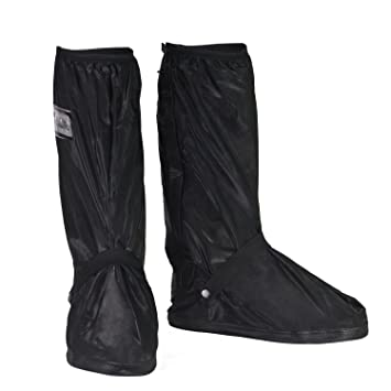 90a5970eb92f9 HSEAMALL Overshoes Reusable Waterproof Shoes Cover,Biking Cycling  Slip-Resistant Zippered Shoe Cover Rain Boot Protector