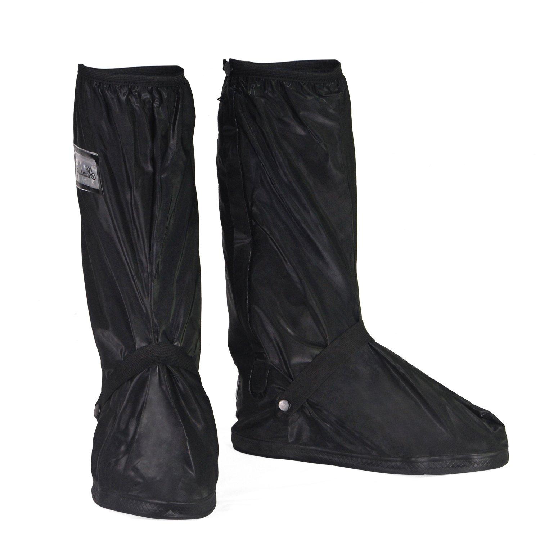 HSeaMall Les chaussures imperméables couvrent des bottes réutilisables couvrent des glissières glissières résistantes à glissement taille XL