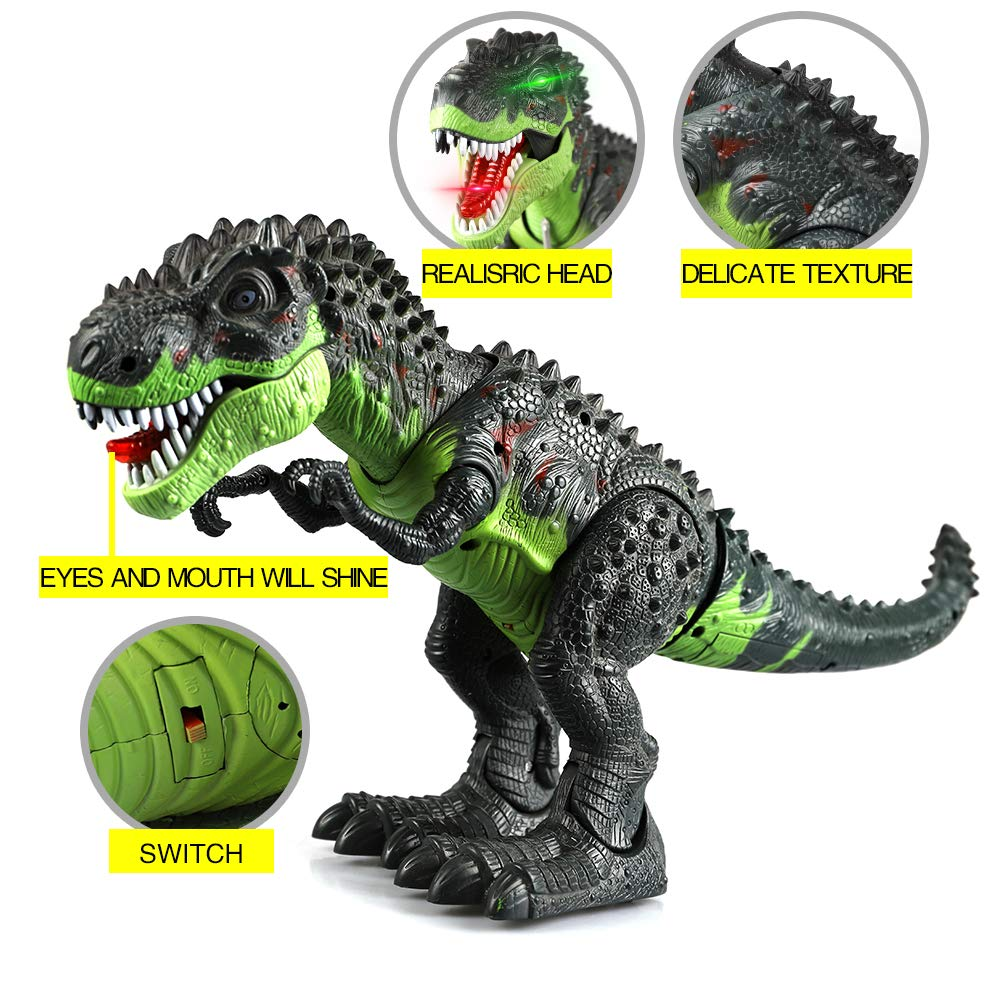 ERollDeep Dinosaur Toys, Electronic Dinosaur Toys Walking Dinosaur with Flashing & Sounds for Boys (Large) by ERollDeep (Image #9)