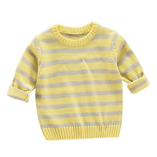 ea55f03f8 Amazon.com  Konfa Girls Boys Fresh Striped Knitting Sweater ...