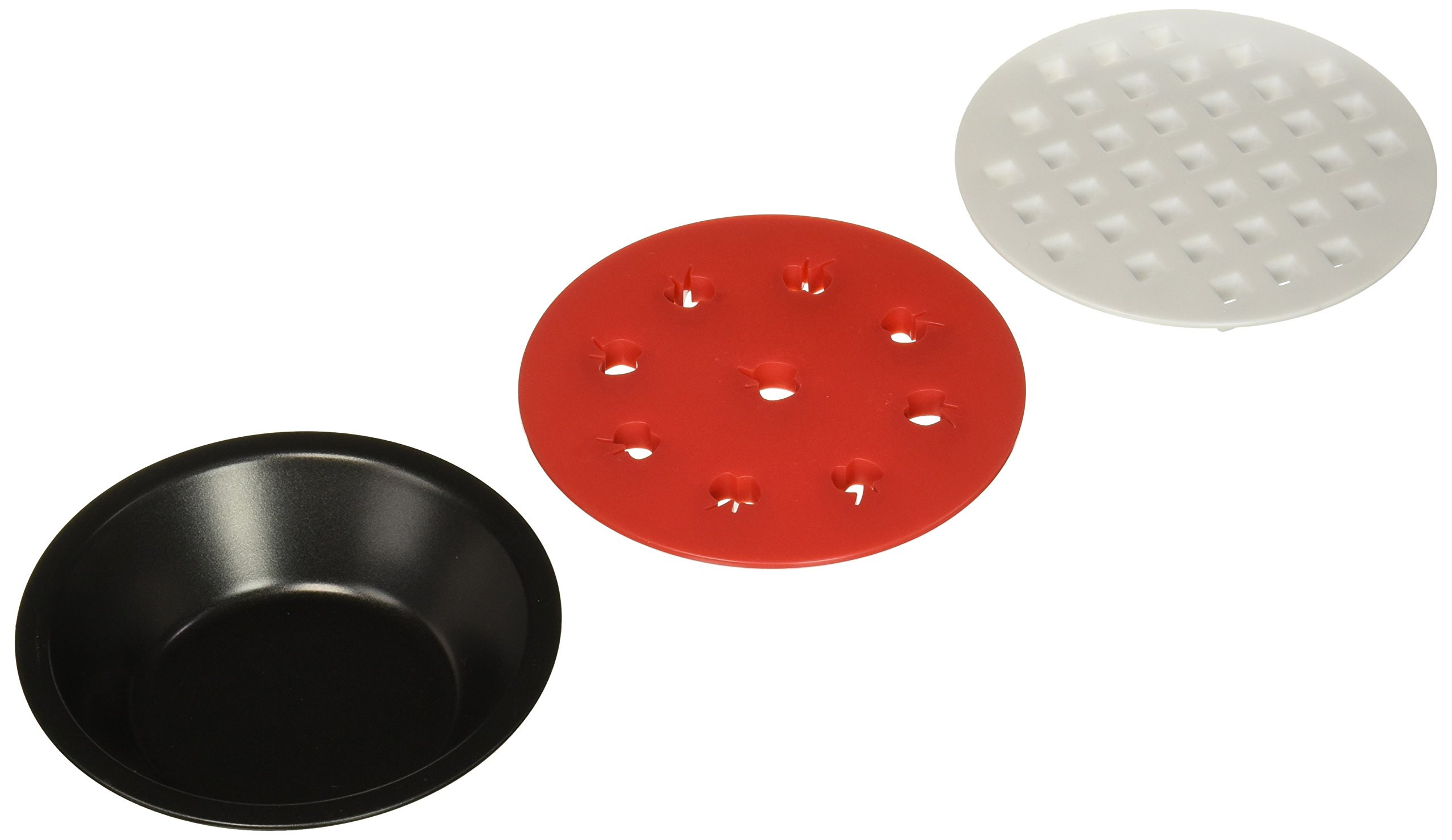 Norpro Mini Non Stick Pie Pan Set Of 4 with Pie Top Cutters Set Of 2 Durable