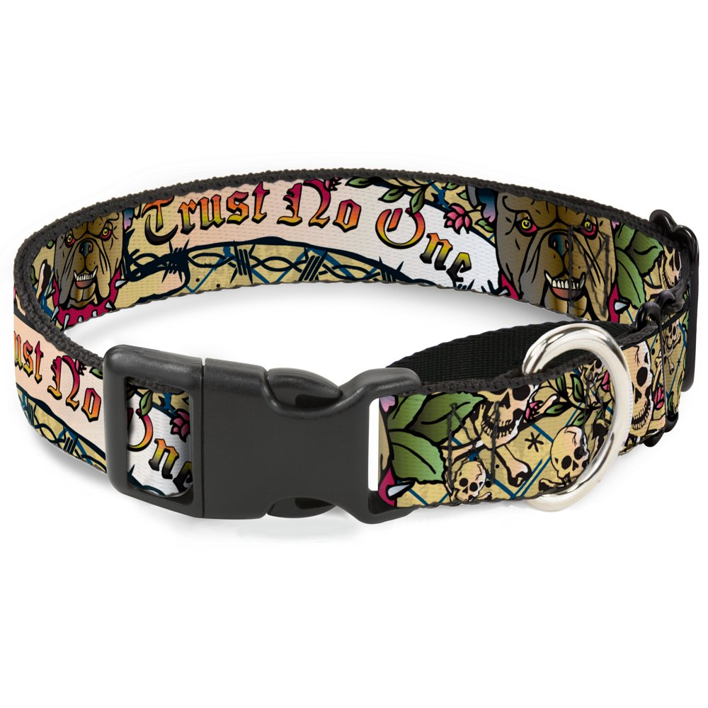 Buckle-Down MGC-W32005-S Tan Martingale Dog Collar, 1  Wide-Fits 9-15  Neck-Small