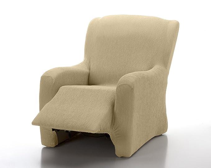 textil-home - Funda de Sillón Elástica Relax Completo Marian, Tamaño 1 Plaza Desde 70 a 100Cm. Color Beig