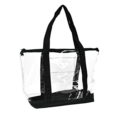 Amazon.com: DALIX Clear Shopping Bag Security Work Tote Shoulder ...