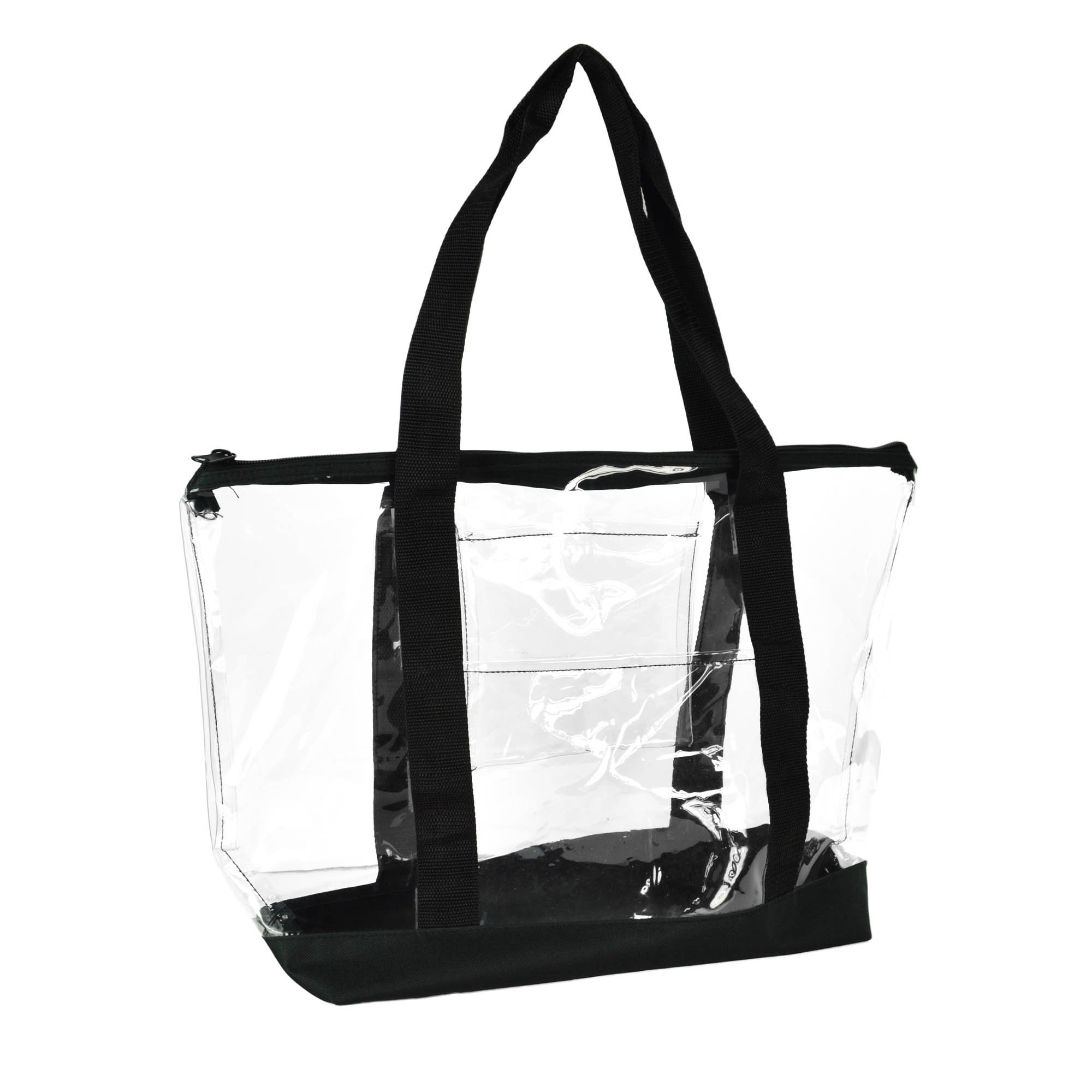 f6cf61aa50 DALIX Clear Shopping Bag Security Work Tote Shoulder Bag Womens Handbag  product image