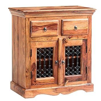 oak furniture house rauchi indisches rosenholz mobel sideboard mit 2 schubladen 1 einlegeboden 2