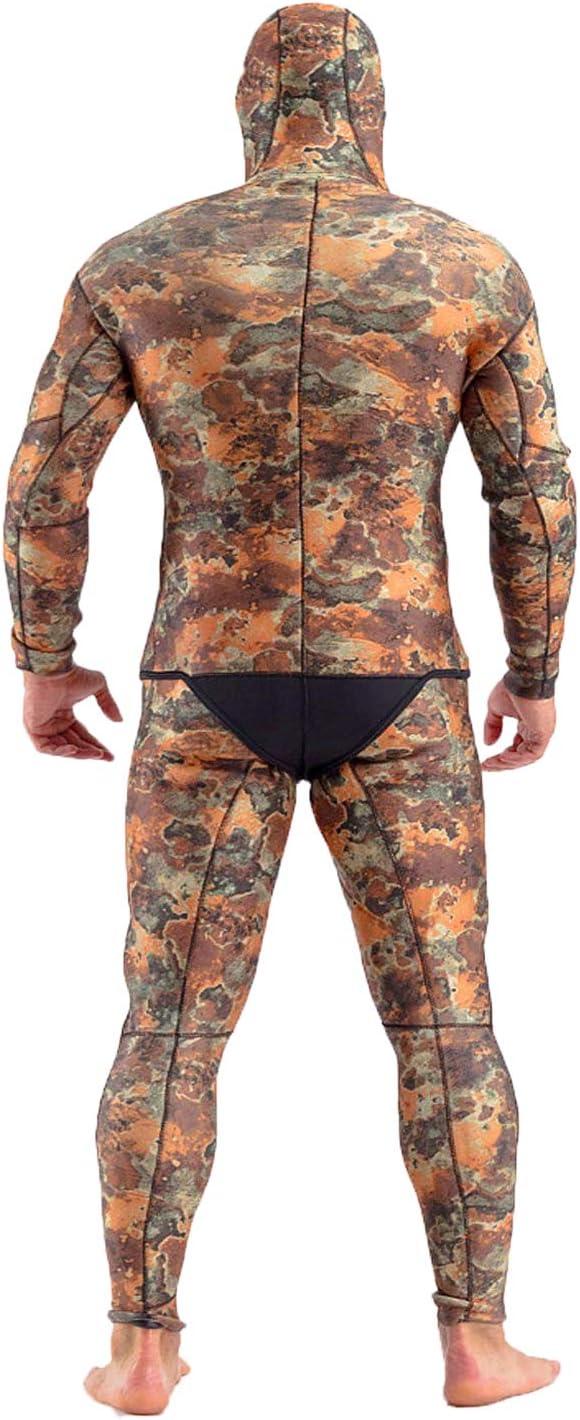 Nataly Osmann Camo Wetsuit 3.5mm Yamamoto Neoprene Hoodie Full Spearfishing Suit for Men