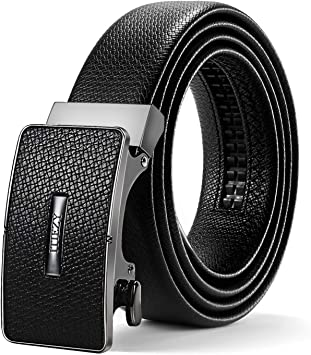 Adjustable Slide Belt with Automatic Buckle in Gift Box ITIEZY Mens Ratchet Leather Dress Belt