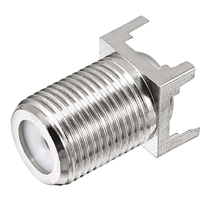 uxcell Silver Tone BSP F Female Jack PCB Mount RF Coax Cable Coaxial Adapter Connector