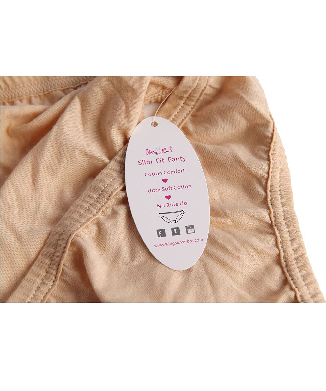 acb589d20 WingsLove Women s 3 Pack Comfort Soft Cotton Plus Size Underwear High-Cut  Brief Panty larger image