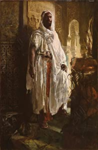 Doppelganger33 Ltd Painting Charlemont The Moorish Chief Giant Wall Canvas Art Print