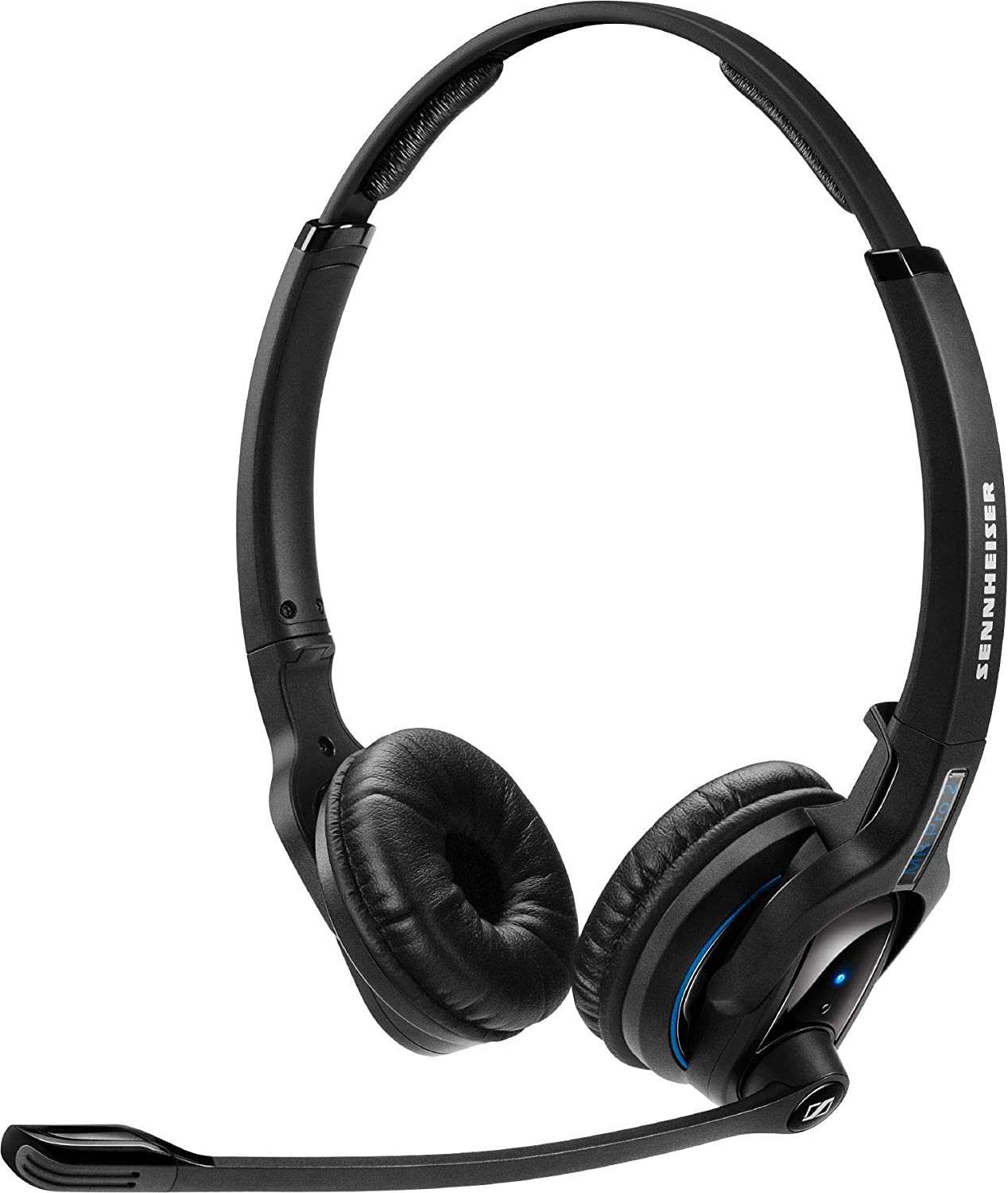 Sennheiser MB Pro 2 UC ML (506046) - Dual-Sided, Dual-Connectivity, Wireless Bluetooth Headset | For Desk/Mobile Phone & Softphone/PC Connection| w/ HD Sound & Skype for Business Certified (Black) Sennheiser Enterprise Solutions