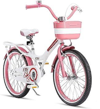 Royalbaby Jenny - Bicicleta para niña (ruedas de 20 pulgadas), color blanco y rosa: Amazon.es: Deportes y aire libre